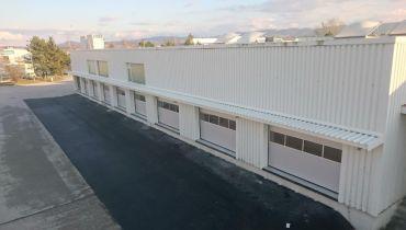 Errichtung der Toranlagen & Hallen Vordach